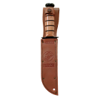 FULL SIZE USMC KA-BAR, SERRATED EDGE/ LEATHER SHEATH