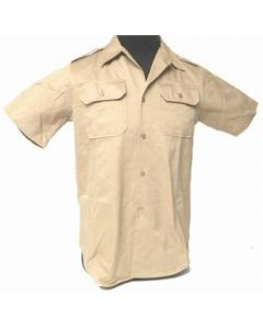 Short Sleeve Khaki Shirt (100% Cotton)