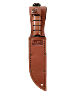 KA-BAR Short Brown Leather USA Sheath