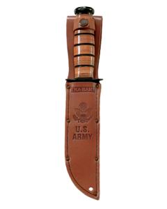 KA-BAR Full-size Brown Leather US ARMY Sheath