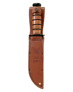 KA-BAR Full-size Brown Leather USN Sheath