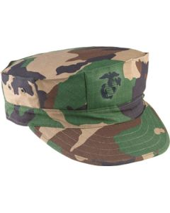 12 Pack of USMC Woodland Camo Hats (Small Sizes)