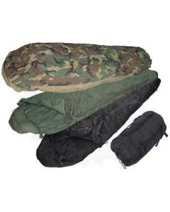 4 Piece G.I. Modular Sleeping Bag System Woodland Camo (Used)