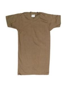 12 Pack Of GI Brown T-Shirts Irregular Assorted Sizes