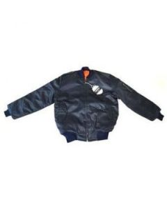 Reversible Blue MA-1 Pilots Jacket With Epaulets