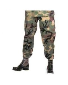 5 pack of 100% Cotton Woodland BDU Pants Large