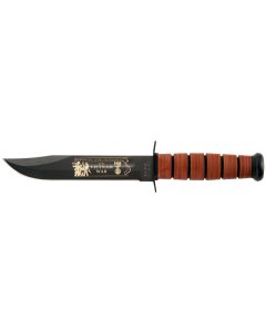 KA-BAR Vietnam War Knife USN with Stamped Leather Sheath