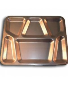 6 Pack of Military Issue New Steel Mess Trays