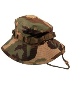Wide Brim Special Ops Woodland Jungle Boonie Hat