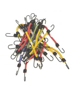 25 Pack of Elastic 12 inch Bungee Cords