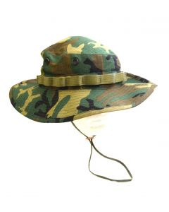 US Made Wide Brim ERDL Boonie Hat
