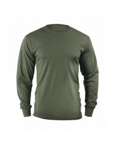 Solid OD Green Long Sleeve T-Shirt