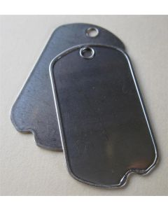 Two WWII Korea Issue Blank Dog Tags Only