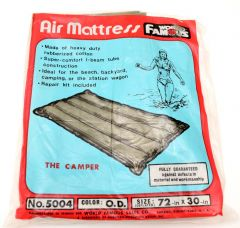 Rubberized Cotton Air Mattress OD Green 72 in. x 30 in.