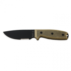 Ontario RAT 3 Serrated with Black Sheath