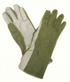 10 Pack Special of GI Nomex Flyer's Gloves Sage Green Size 11