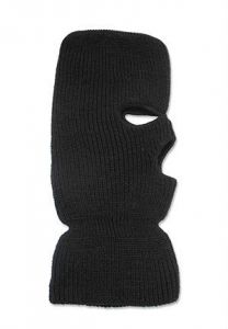 Broner 3 Hole Acrylic Face Mask Black