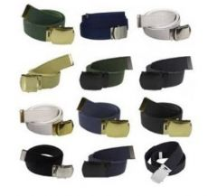 12 Pack Of US Made Cotton Web Belts