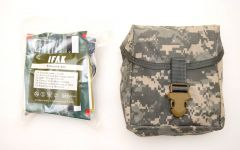 GI Individual First Aid Kit Pouch with Military Style Trauma Kit