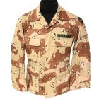 GI 6 Color BDU Jackets with Patches Near New